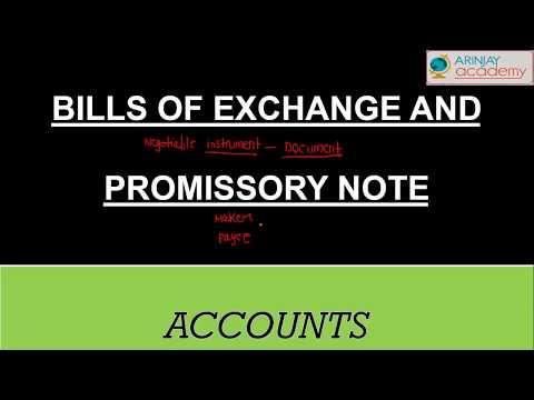 Bills of exchange and promissory note - Accounts