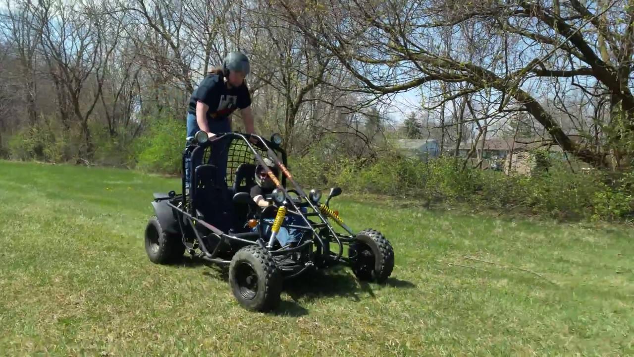 Standing On Top Of Go Cart Kandi 150cc Spyder Go Kart Youtube
