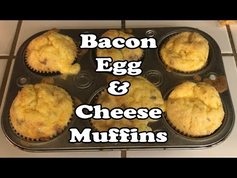 Keto Recipe (Low Carb): Bacon, Egg, & Cheese Muffins
