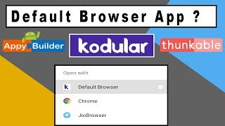 Thunkable apps web view open as external browser