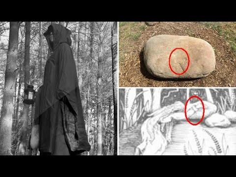 La maldición de Moll Dyer y sus huellas en la piedra.