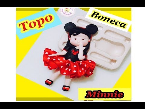DIY TOP DOLL MINNIE WITH JANE CHRISTOVAM MOLD COLLECTION MANUFACTURING NÉIA SILVEIRA