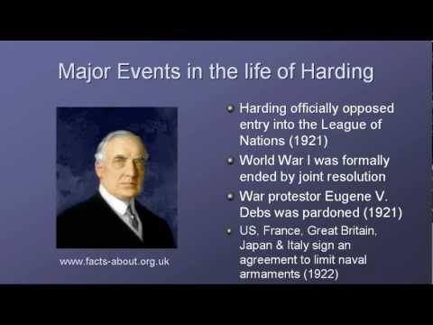 President Warren Harding Biography