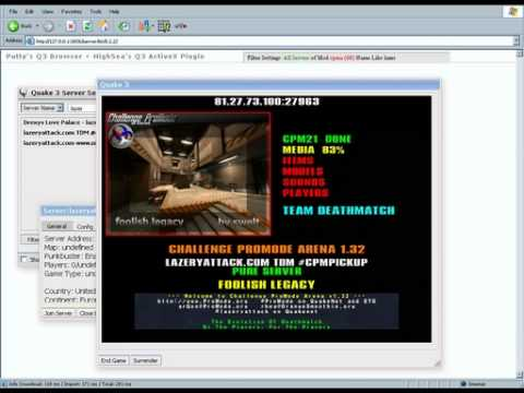 Quake 3 in your browser 2005 style.