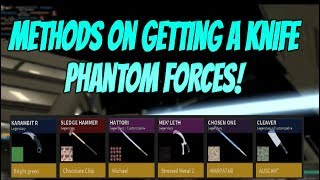 Roblox Phantom Forces Best Way To Unbox Knives! Phantom Forces How To Unbox Knives!