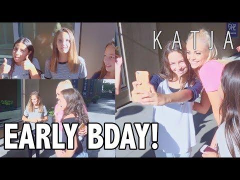MEETING KATJATORS & EARLY BDAY PRESENTS! | Katja Glieson
