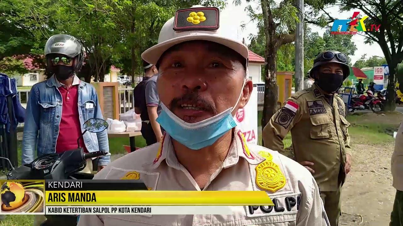 Satpol PP Kendari Tertipkan PKL Liar