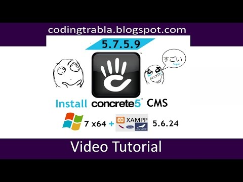 Install Concrete5 on windows 7 localhost - open source PHP CMS