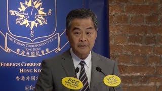 Former HK chief CY Leung gives address at Foreign Correspondents' Club