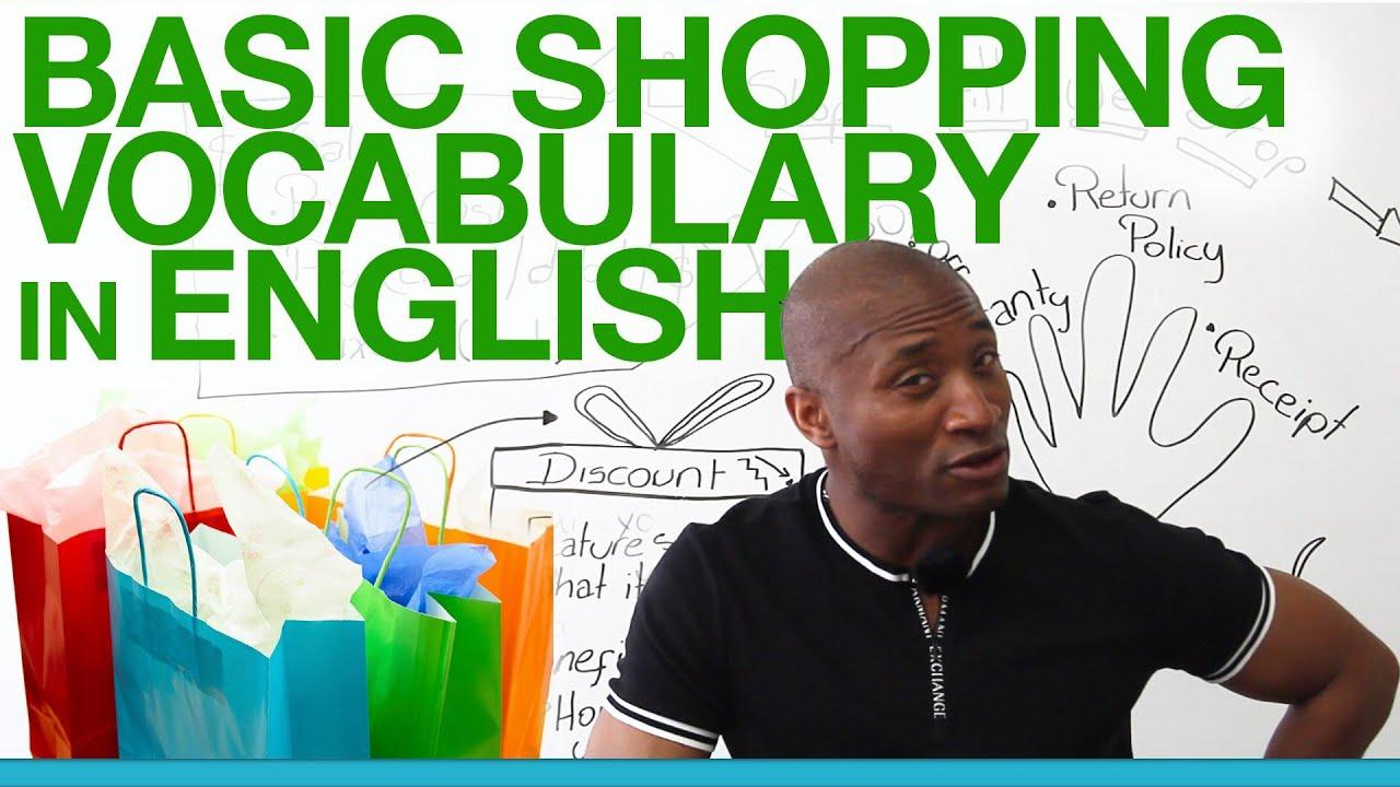 Basic shopping vocabulary in English - YouTube