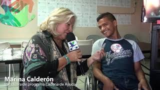 """""""Seguiremos apoyando con nuestra #CadenaDeAyudas a personas como David"""": Marina Calderón"""