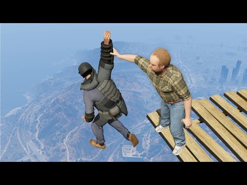 GTA 5 Epic ragdolls episode 100 [Funny Moments]