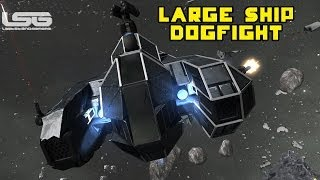 Space Engineers - Large Ship Fighter Challenge, Dogfight, Multiplayer Combat