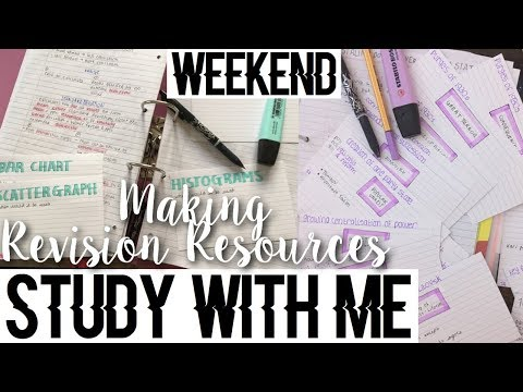 WEEKEND STUDY WITH ME #3 - OCTOBER HOLIDAYS (making revision resources)