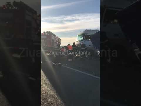 Accident rutier grav în apropiere de Crucea, județul Constanța.