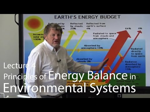 Lecture 4-Principles of Energy Balance in Environmental Systems