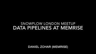 Real-Time at Memrise - Daniel Zohar - Snowplow London Meetup #3