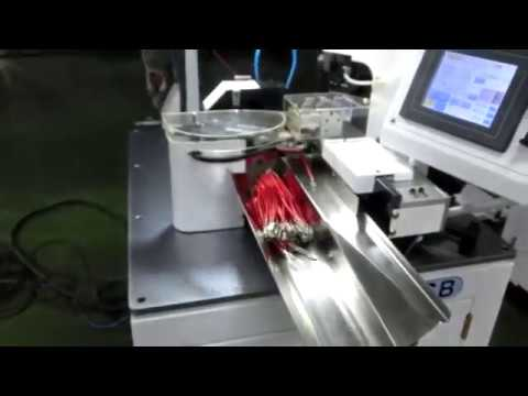 wire crimping machine, wire processing machine - YouTube