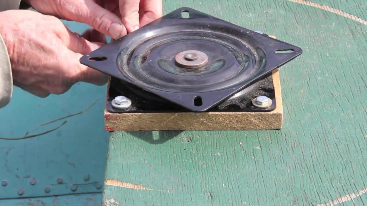 How To Install A Swivel Plate And Boat Seat Youtube