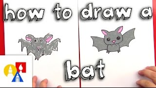 How To Draw A Cartoon Bat