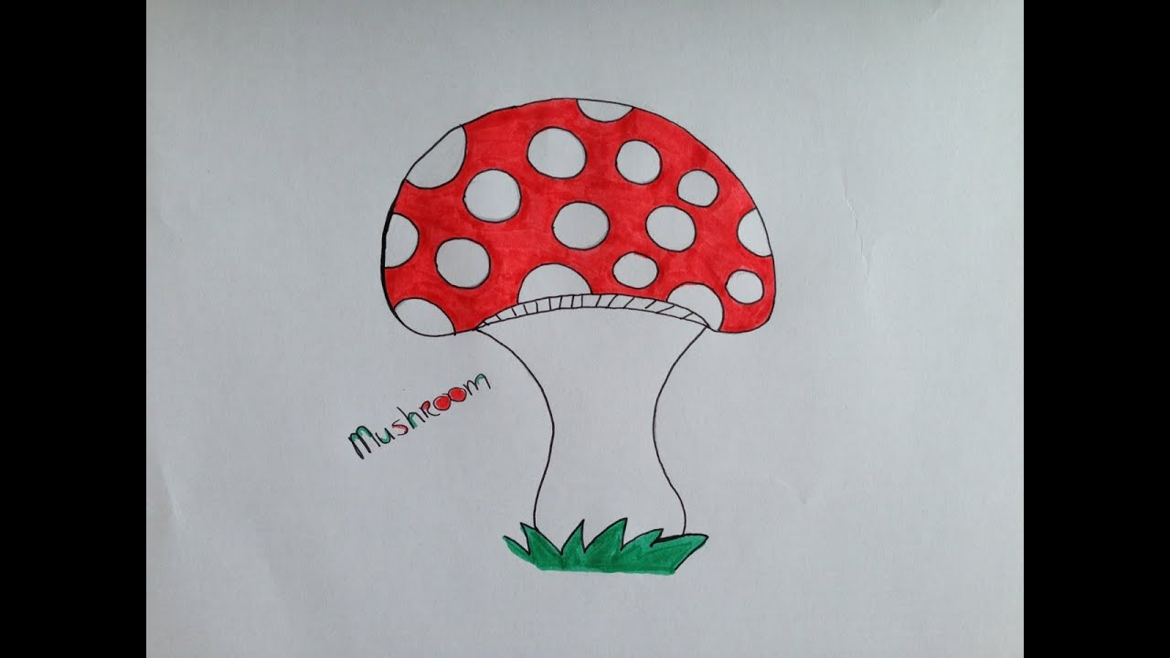 How To Draw A Mushroom Youtube