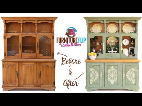 Furniture Flip Transform A French Country Dining Hutch