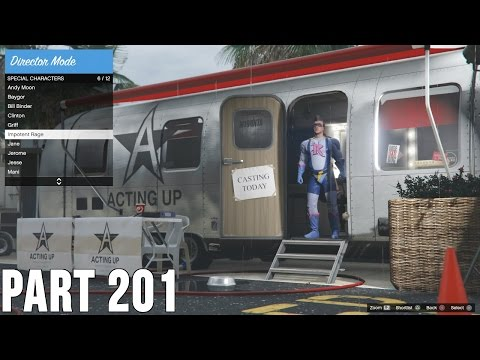 Grand Theft Auto V - 100% Walkthrough Part 201 [PS4] – Rockstar Editor & Director Mode Trophies