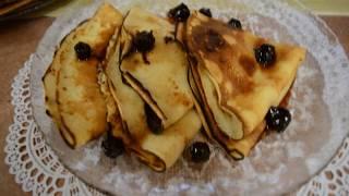 Готовим блинчики на молоке/Cooking pancakes with milk