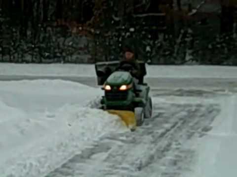 First Time Matty Plowing John Deere X300