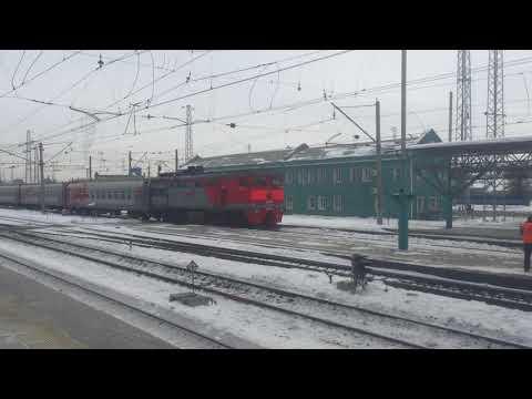 Вокзал Самара, перрон, прибытие поезда № 131У Орск-Москва