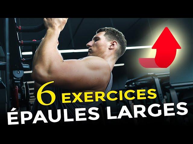 TOP 6 EXERCICES HALTÈRES POUR DES ÉPAULES LARGES EN MUSCULATION