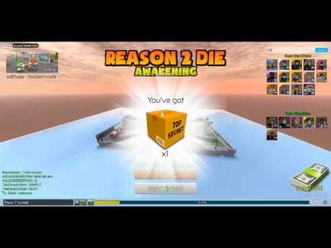 Roblox reason 2 die codes 2017