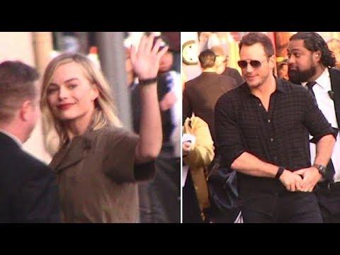 Chris Pratt Hosts Jimmy Kimmel Live With Margot Robbie As Guest