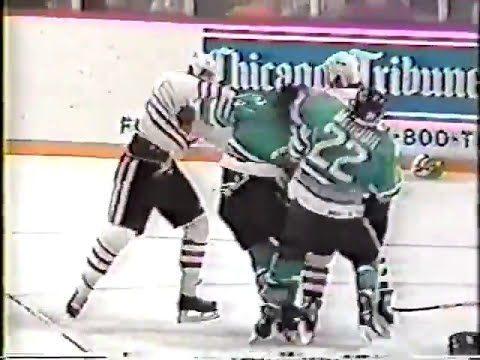 San Jose Sharks vs Chicago Blackhawks Brawl 1991