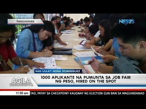 1000 aplikante na pumunta sa job fair ng PESO, hired on the spot