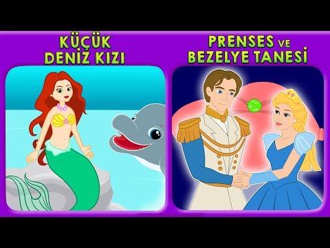 2 Masal | Küçük Deniz Kızı + Prenses ve Bezelye Tanesi Masalları | Adisebaba Masal