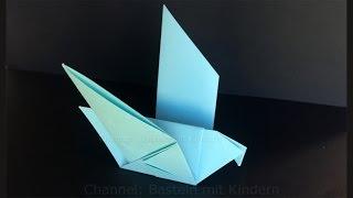 Download Video Origami Taube falten mit Papier - Einfachen DIY Vogel basteln mit Kinder - Tiere - Ideen MP3 3GP MP4