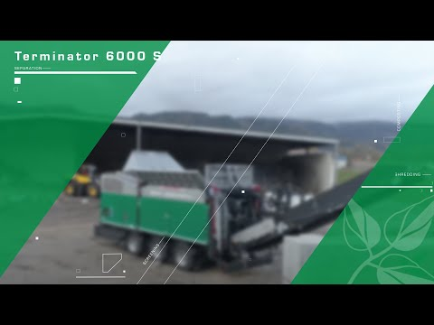 Komptech Terminator Shredding Bulky Waste, MSW And Waste Wood