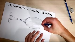 [Drawing] Wine Glass - BlackDrone