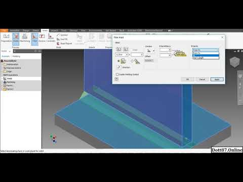 How To Use Fillet Weld In Autodesk Inventor