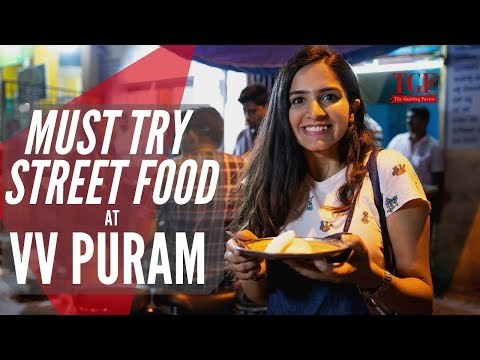 Indian Street Food - Bangalore VV Puram | Must Try Street Food | Bengaluru