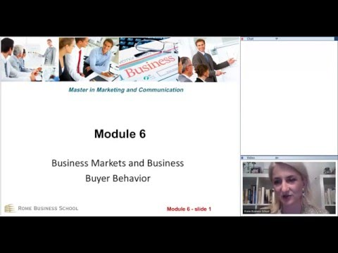 Rome Business School - Lecture on Marketing and Communicatio