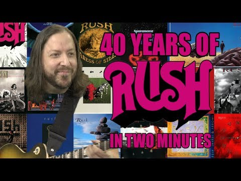 40 Years of Rush in Two Minutes (Redux)