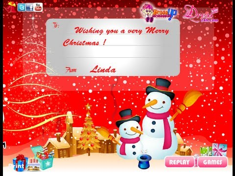 How to Make Your Own Christmas Cards Online with Playing Games ...