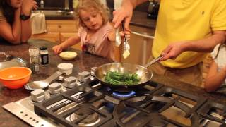 Gino's Family Cooking Broccoli From The Garden