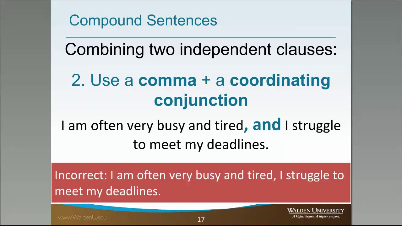 writing compound sentences A compound sentence is composed of at least two independent clauses a compound sentence always use a connecting word such as and, or, but when two sentences come together as one, they are called a compound sentence these compound sentences worksheets are for students at the beginner and intermediate.