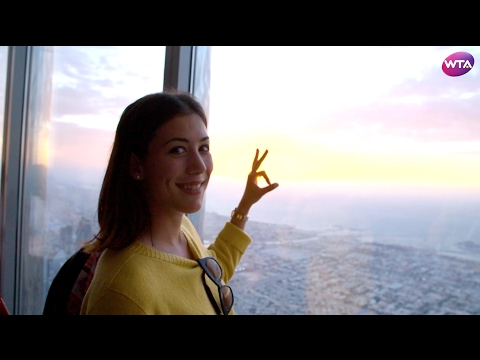 Garbine Muguruza Visits Burj Khalifa | World's Tallest Building