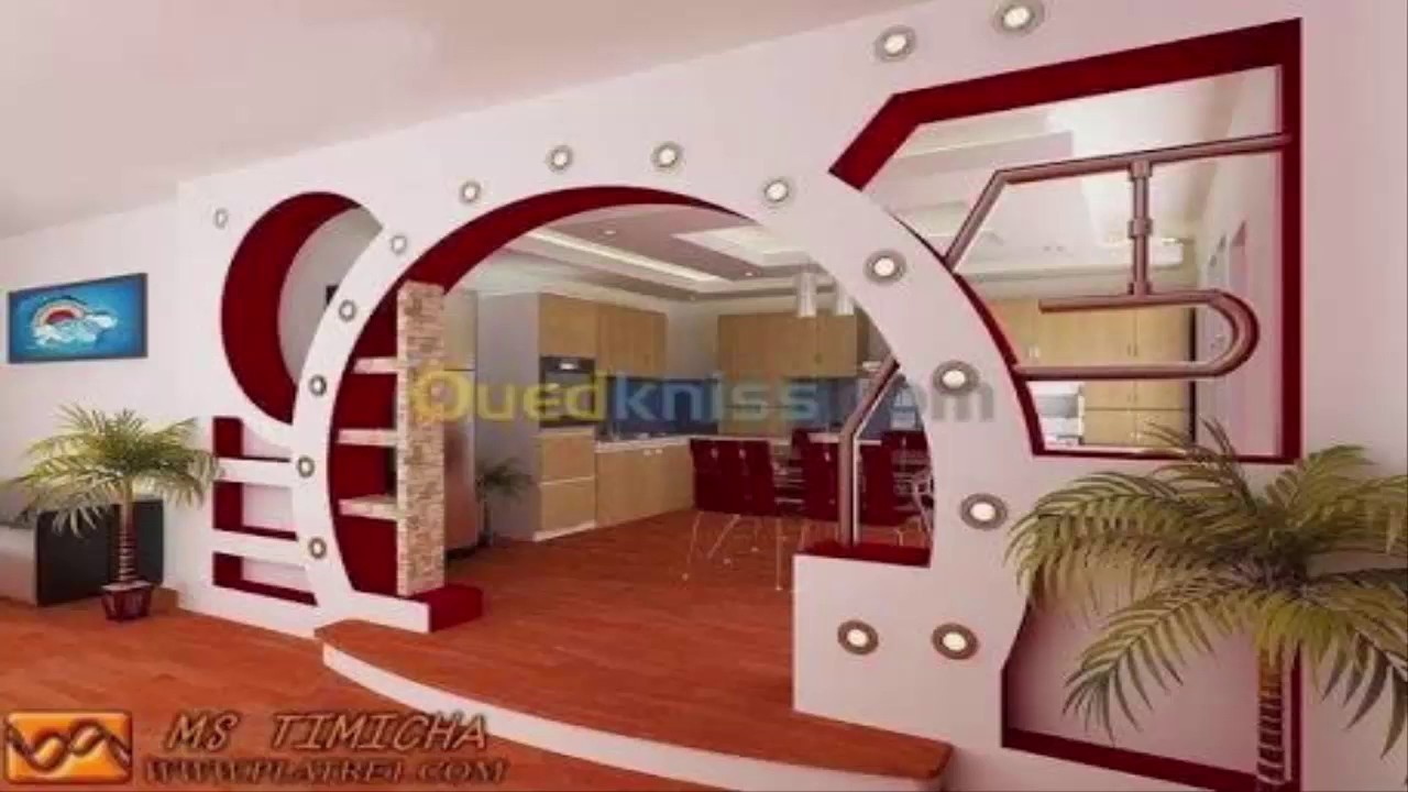 Tlemcen d co placo platre 2 youtube for Decoration platre chambre