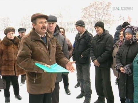 UA:СУМИ: У селі Марківка, на Сумщині, селяни зібрались через невиплату за паї
