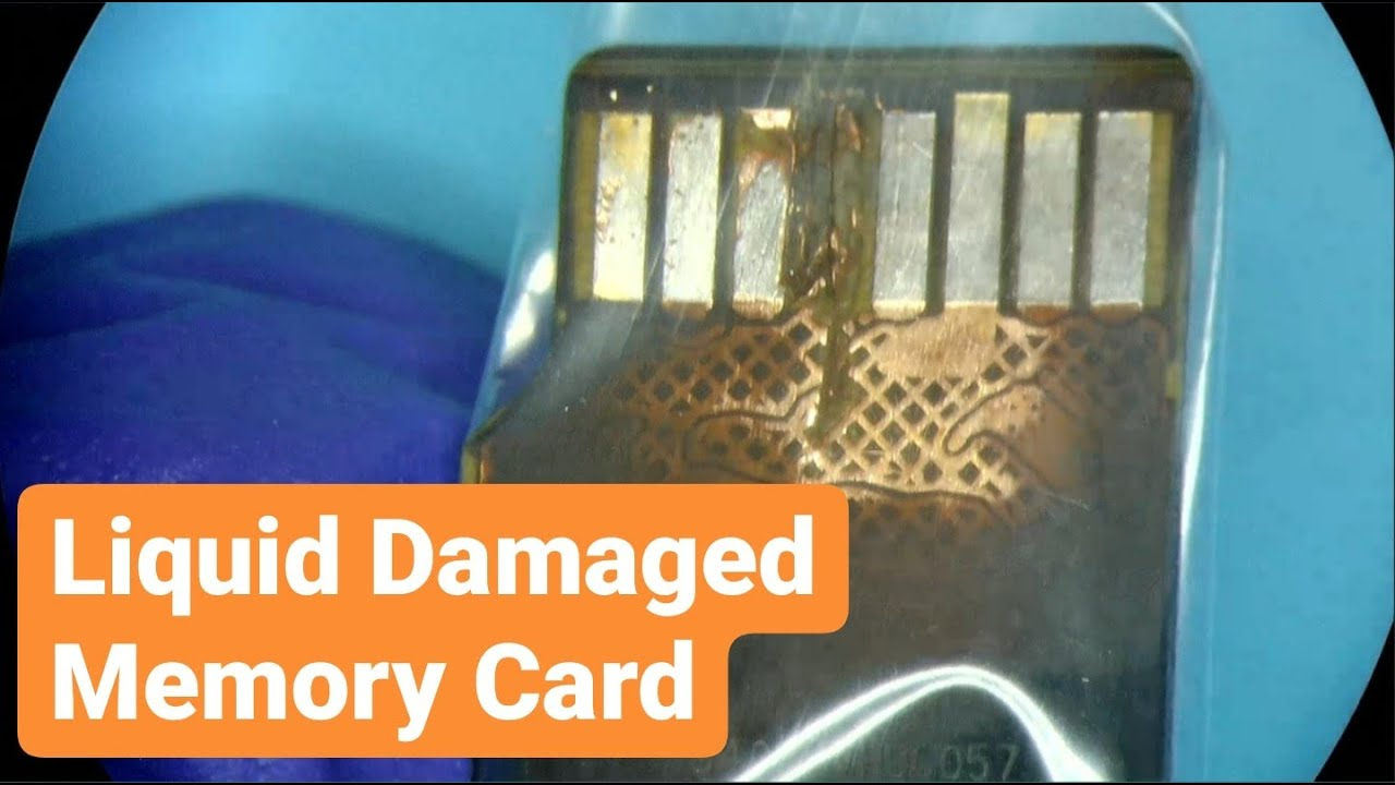 liquid damaged memory card